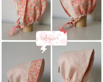 Béguin baby girl reversible cotton and linen