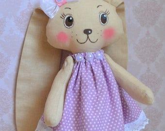 Rag Bunny Bunny Dress Bunny Handmade Bunny Gift Bunny Interior Little Bunny