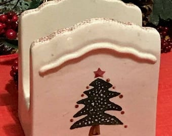 Vintage Ceramic Napkin Holder Holidays Decor