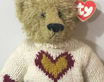 "1993 TY Teddy Bear The Attic Treasure Collection ""Love Conquers All"" Bear for Valentine's Day Hand Made in China"