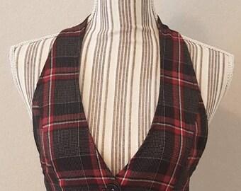 ON SALE Vintage Plaid Vest