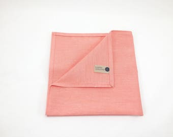Light Orange Linen Pocket Square