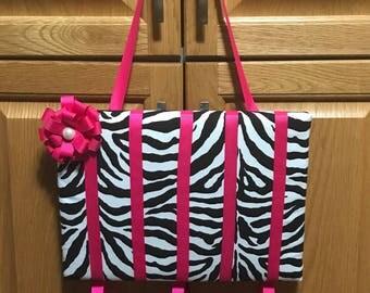 Zebra hair bow holder