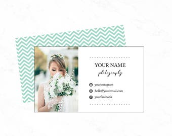 Photography business card , Premade business card template, photography business card template