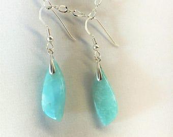 Earrings - Amazonite