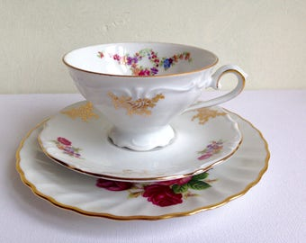 Set of 2 Bavaria Mix Match Trio Vintage Bavaria Plate Cup and Saucer Germany