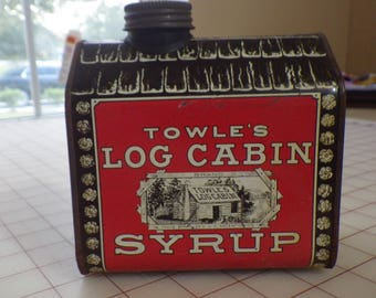 Towle's Log Cabin Syrup Tin Bank