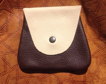 Small leather belt bag