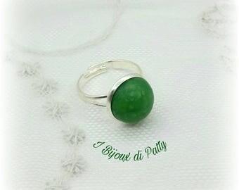 Anello verde scuro