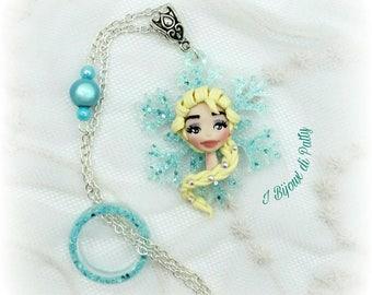 Collana con fiocco di neve e Elsa - Frozen