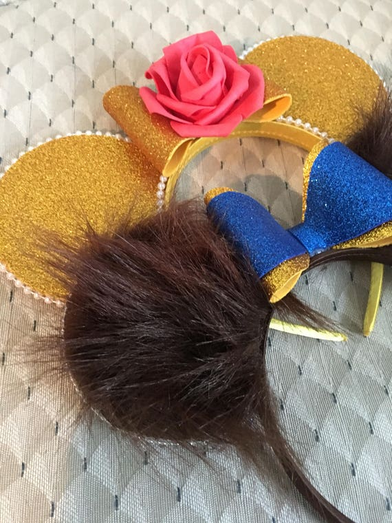 Belle beast beauty and the beast Disney minnie Mickey Mouse ears