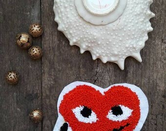 Patch pin heart Commes des Garçons play nike