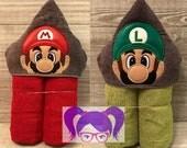Hooded Towel, Super Mario Bros. Hooded Towel, Super Mario Bros. Bath Towel, Bath, Bathroom, Super Mario Towel, Super Mario Bros.