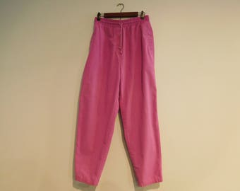 Vintage Retro High Waist Stretch Waist Purple Pants Size 9/10