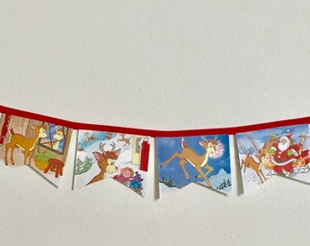 Rudolph the Red-Nosed Reindeer Storybook Banner, Garland, Bunting
