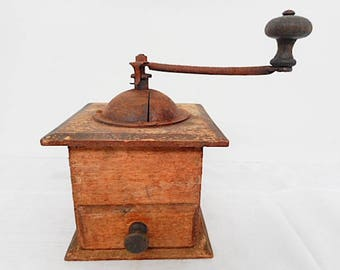 French Antique Coffee Grinder (C578)