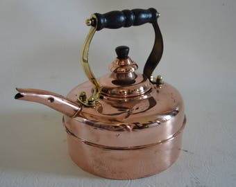 Lovely Victorian Whistling Copper Kettle/ Teapot