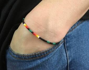 Simple bracelet Native American Style Black bracelet minimalistic bracelet Boho Bracelet Hippie Jewelry Boho Native American Bracelet Kalind