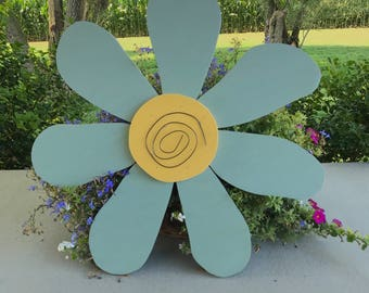 Rustic Light Green Wooden Flower Door Hanger