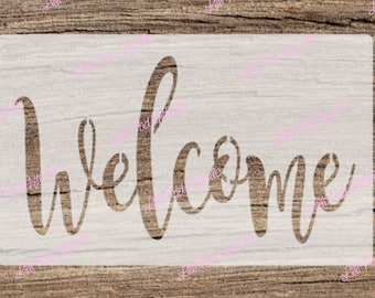 Welcome - 10x5.5 -  Re-usable stencil