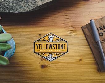 Yellowstone National Park - Vinyl Sticker