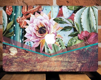 Cacti Macbook Tropical Case Macbook Air 11 Case Macbook Air Cover Macbook Pro Case 13 Cactus Case Macbook 12 Inch Floral Macbook Case WCm014