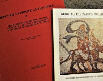 """2 Books on Cypriot Antiquities - """"Corpus of Cypriote Antiquities 2"""" AND """"Guide to the Paphos Mosaics"""" - Ancient Cyprus - Cypriot Artifacts"""