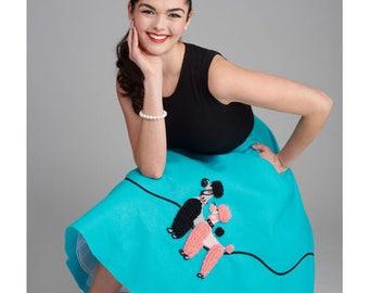 Sewing Pattern For Poodle Skirt Costume 1950s Vintage Cummerbund Simplicity 8446