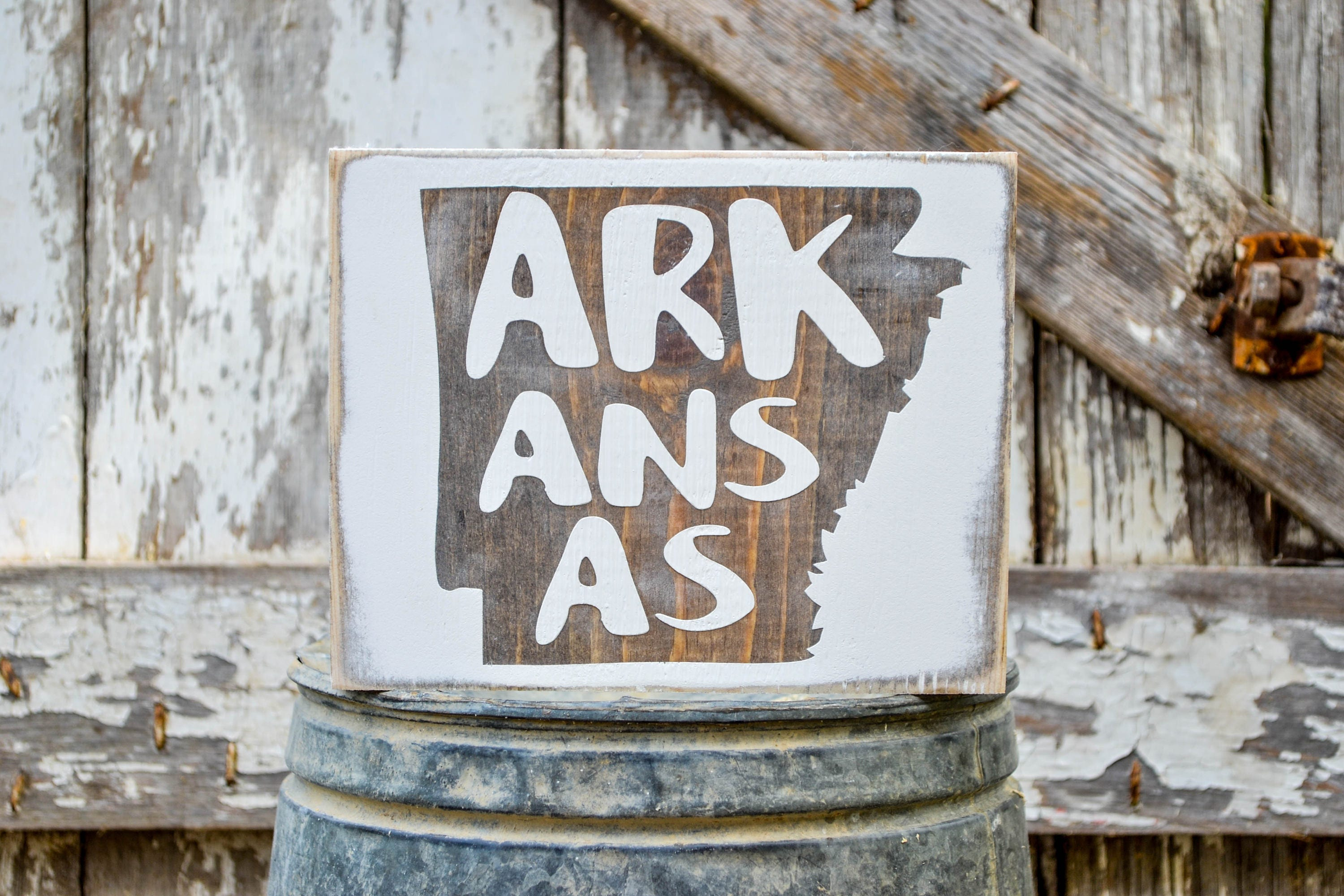 arkansas wood state sign rustic decor wood sign country