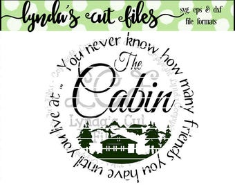 Cabin Friends SVG/EPS/DXF file