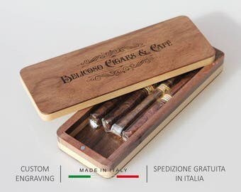 Cigar box,Cigar case,Wooden cigar case,Wooden cigar holder,Easter gift,Anniversary gift,Personalized gift,Gift for him,Gift for her