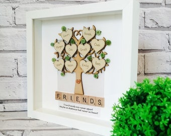 Best Friends Frame, Personalised Friends Gift, Friends Family Tree Inspired Frame, Family Photo Frame, Friends Gift Frame, Friends Frame