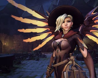 Witch Mercy wings Overwatch cosplay prop