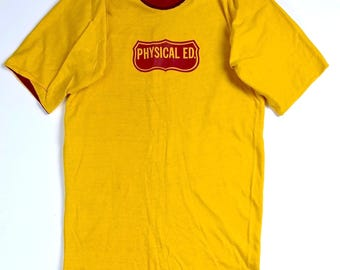 Rare Physical ED Reversible T-Shirt Size XL, Vintage Athletic Tee, Gym Class Top
