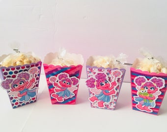 Abby Cadabby | Popcorn Boxes, Treat Boxes, Favor Boxes, Goody Boxes, Snack Boxes, 12 Boxes
