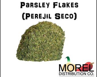 Dried Parsley Leaves Flakes (Perejil Seco) Weights: 2 Oz, 4 Oz, 6 Oz, 8 Oz, 12 Oz, & 1 Lb