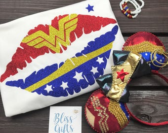 Superhero Shirt | Super Hero Shirt | Ladies Shirt |  Superhero Gift Idea | Wonder Woman Shirt |  Wonder Woman Tank Top | Wonder Woman Girls