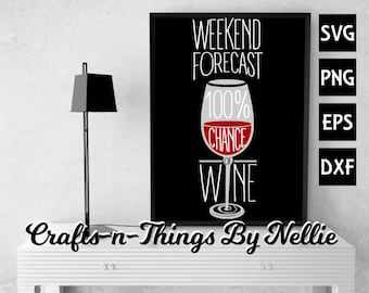 Weekend Forecast Wine SVG