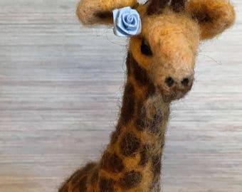 Needle felted GIRAFFE Animal wool