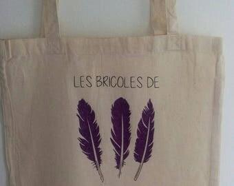 Tote bag, bag for shopping charming trio