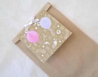 Gift bag, wedding pastel designs label