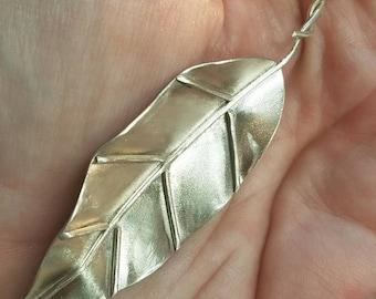 Sterling silver leaf necklace