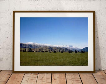 Panoramic Wall Art, Panoramic Photo, Castlerigg Stone Circle Pictures, Castlerigg Stone Circle Photos, Castlerigg Stone Circle Print, Vista