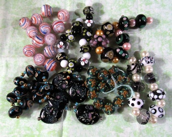 1 Handmade Lampwork Glass Bead Set (B427)