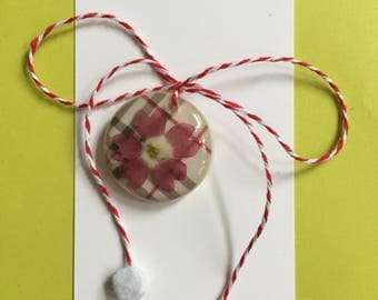 SALE!-Martisor - frozen flowers-handmade in the US