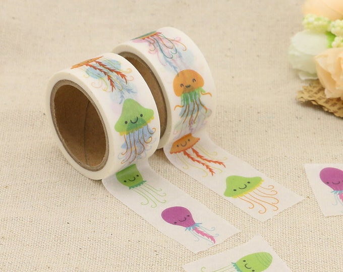 Washi Tape - Octopus Washi Tape - Sea Life Washi Tape - Paper Tape - Planner Washi Tape - Washi - Decorative Tape - Deco Paper Tape