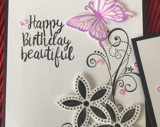 Handmade Card, Birthday Card, Thank You Card, Get Well Card, Friendship, Stampin Up Card,  Customized Card, Stamped Card