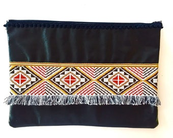 Black leatherette pouch