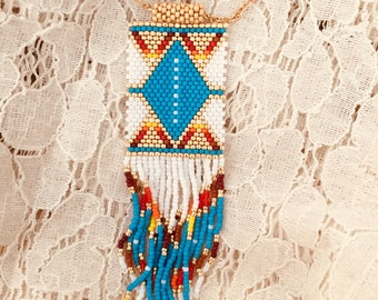 Beaded native necklace