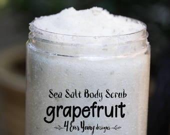 Body scrubs- grapefruit body scrub- sea salt body scrubs-Dead sea salt- Moisturizing scrubs- sugar scrub